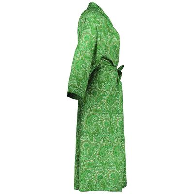 Green Paisley Viscose Gown