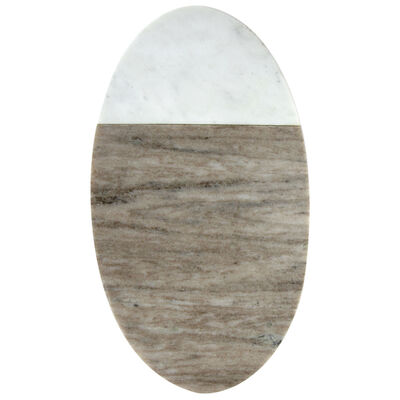 Onyx and White Marble Serving Board