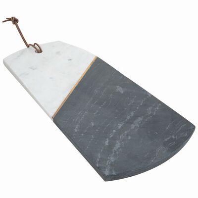 Asymmetric White & Black Marble Board