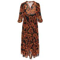 Nola Floral Tiered Dress -  rust