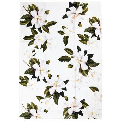 White Blossom Tea Towel