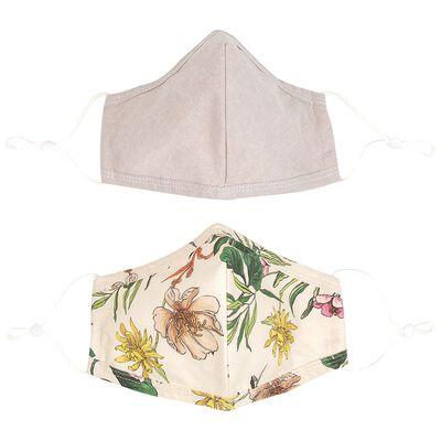 2-Pack Clustered Floral Fabric Face Masks