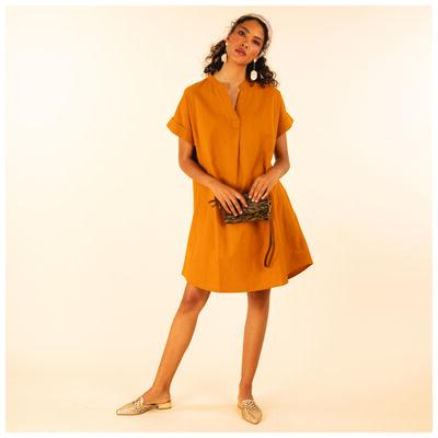 Anne Linen Pop Over Dress