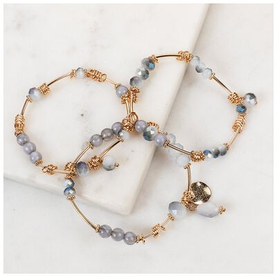 3-Piece Beaded Stretchy Bracelet Set