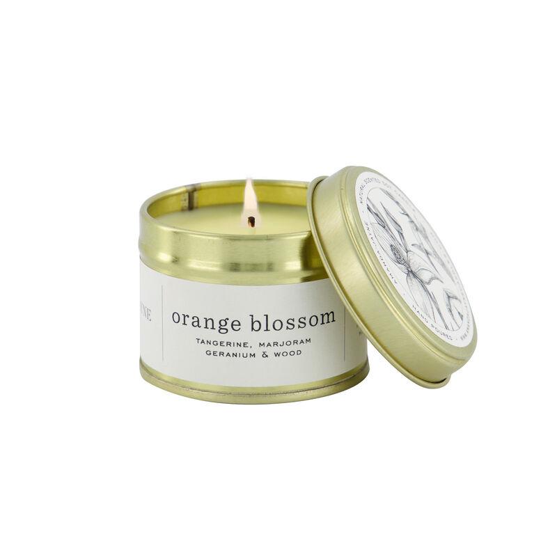 Amanda Jayne Orange Blossom Candle in Gold Tin   -  white-black