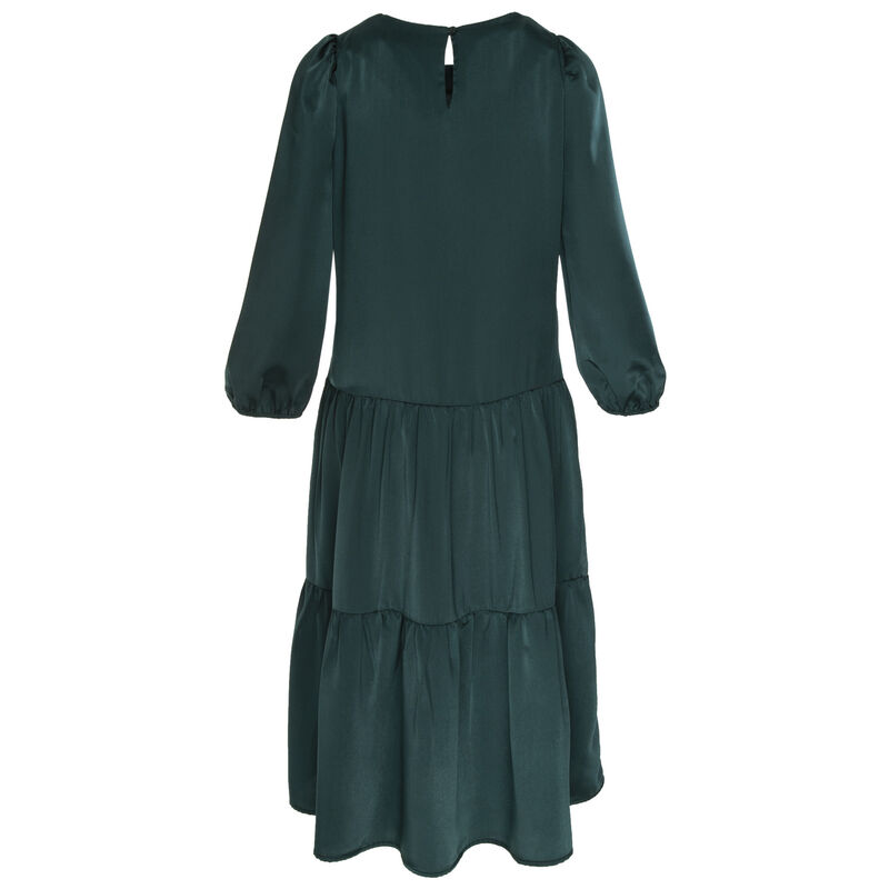Clark Tiered Dress -  teal