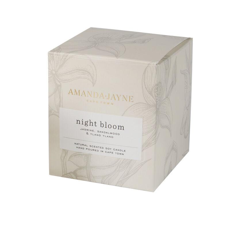 Amanda Jayne Night Bloom Candle in Glass -  white-black