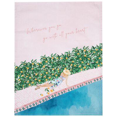 Go With Your Heart Tea Towel