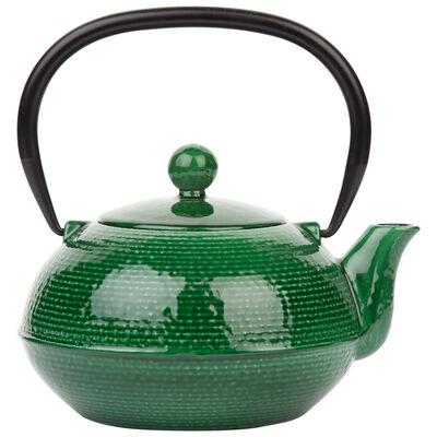 Green Enamel Cast Iron Teapot