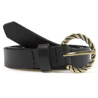 Eva Leather Belt -  black