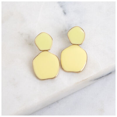 Unique Disk Epoxy Earrings