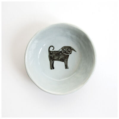 Gemma Orkin Light Grey Pug Dog Snack Bowl