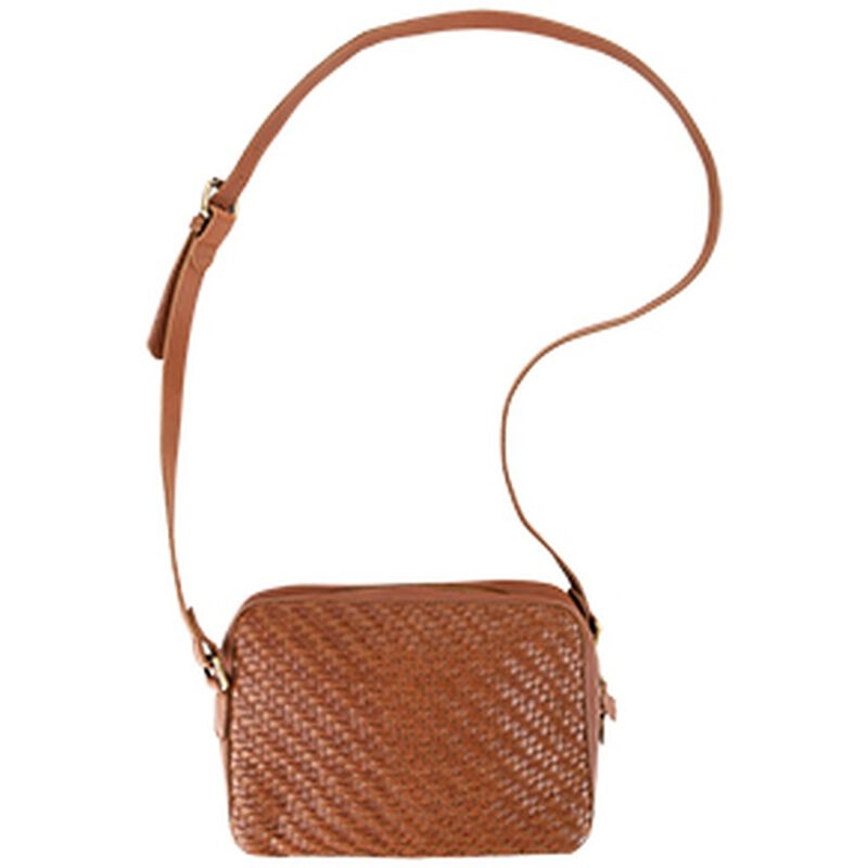 Kenya Plaited Cross Body -  tan