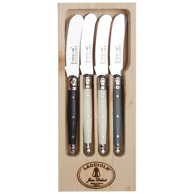 Laguiole Grey Spreaders Set of 4 Rustic