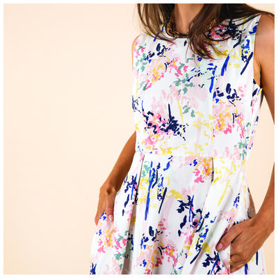 Catia Printed Fit & Flare Dress