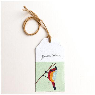 Gemma Orkin Sage Bird Tag