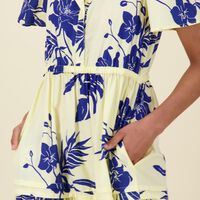 Ensley Fit & Flare Dress -  yellow