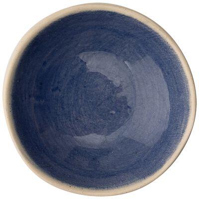 Wonki Ware Jocelyn Solid Blue Salt Pinch Pot