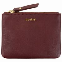 Moira Small  Leather Pouch -  burgundy