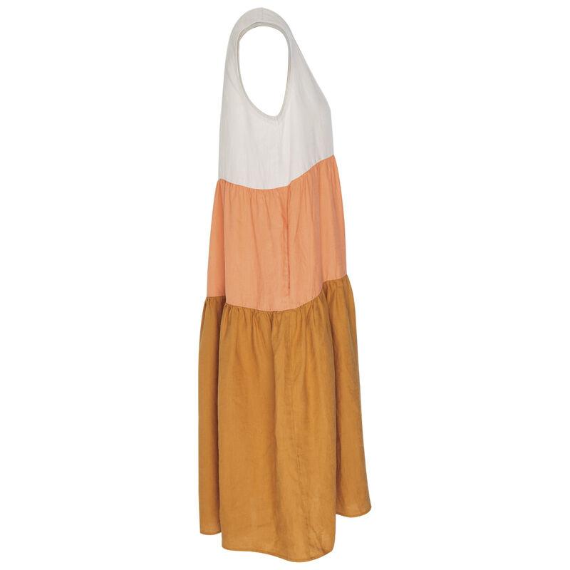 Riley Colourblock Tiered Dress -  camel