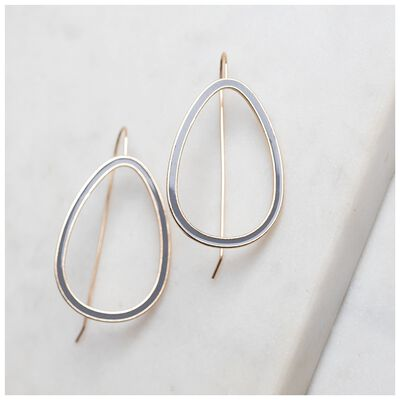 Geo Drop Resin Finish Earrings