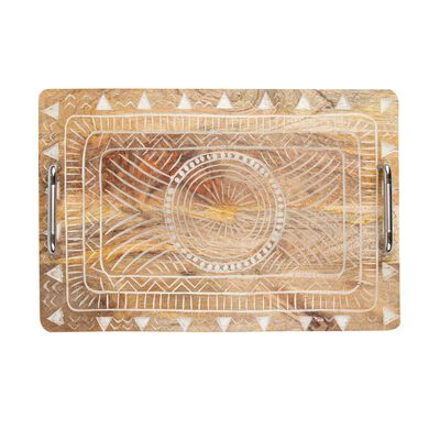 Carved Rectangular Serving Tray