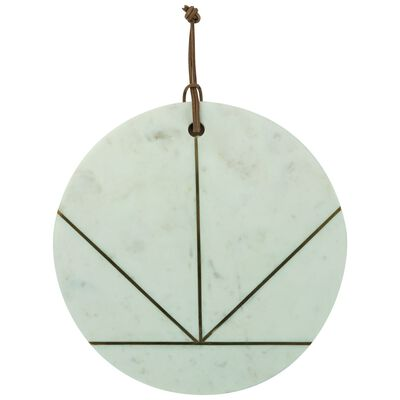 Marble & Brass Ray Round Serving Board