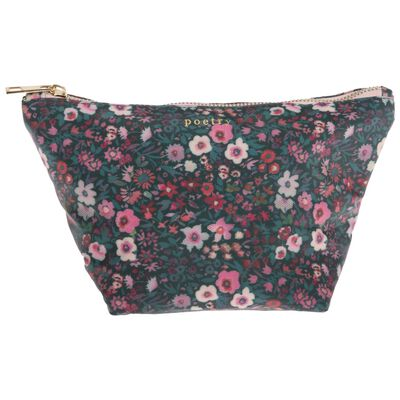 Dahlia Floral Cosmetic Bag