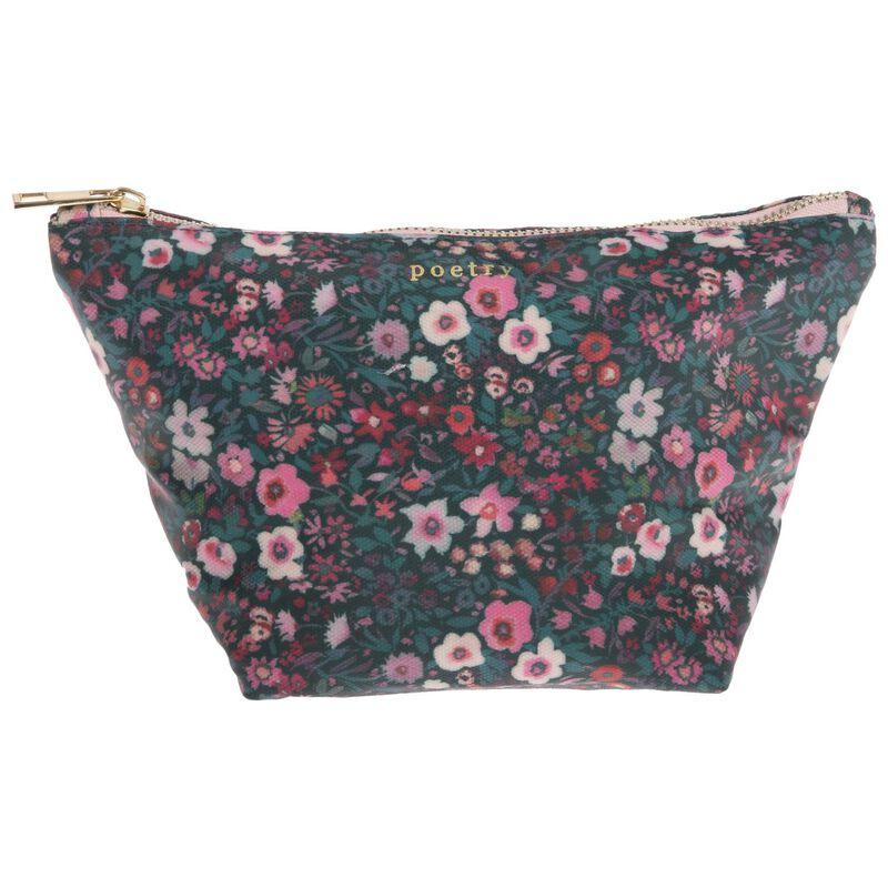 Dahlia Cosmetic Bag -  pink-green