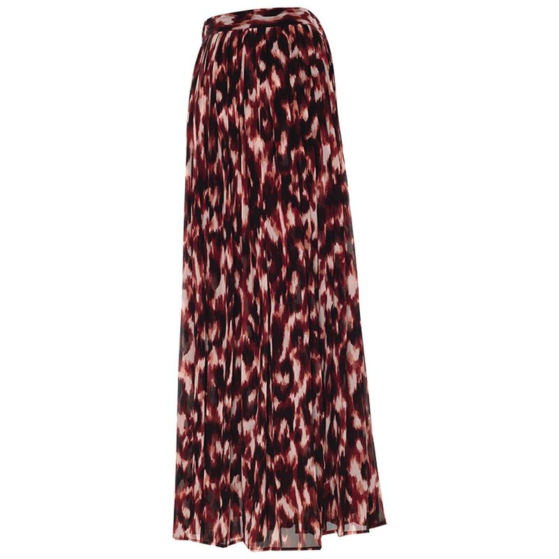 Larkin Pleated Skirt -  red