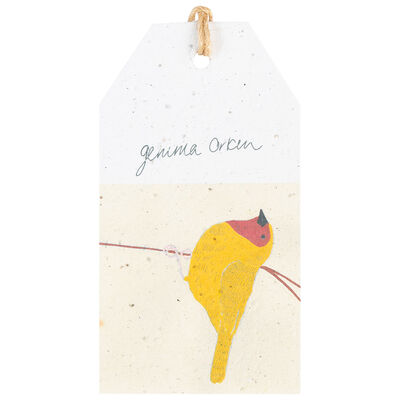 Gemma Orkin Yellow Bird Tag
