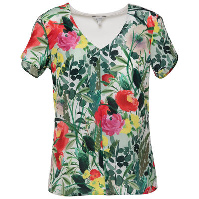 Rhria Floral Mixed Media T-shirt