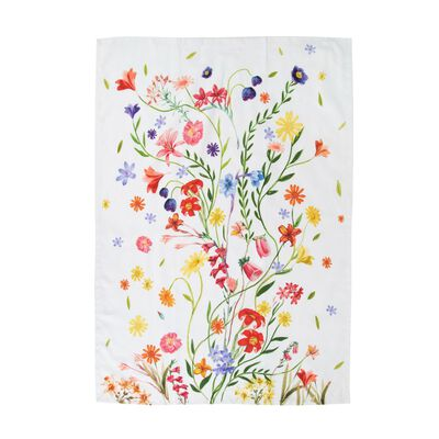 Dried Flower Tea Towel