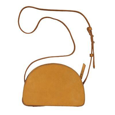 Emma Half Moon Leather Cross Body Bag