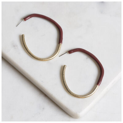 Epoxy Hoop Earrings