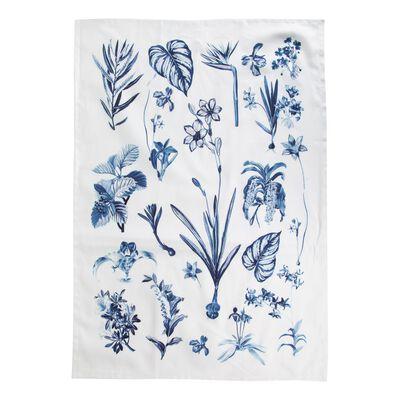 Botanical Blues Tea Towel