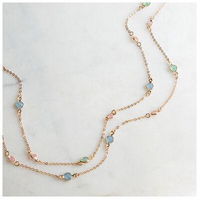 Tiny Glass Stone Satellite Necklace
