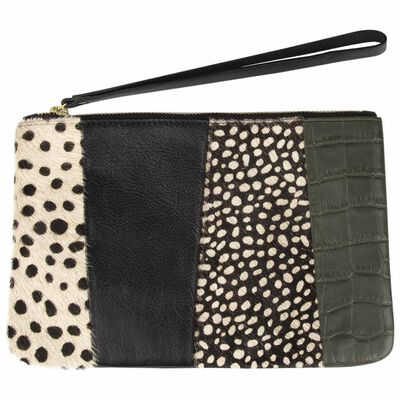 Guiliana Leather Colourblock Pouch