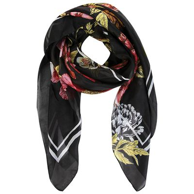 Angie Silk Floral Print Scarf