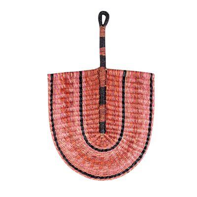 Pink Straw Fan