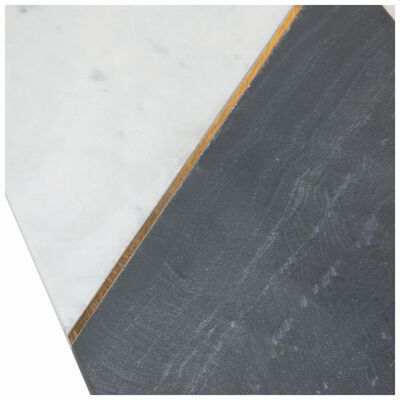 Asymmetric White & Black Marble Board