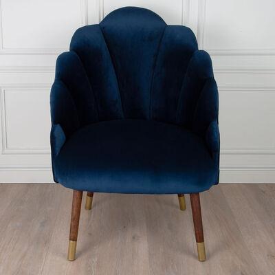 Navy Velvet Peacock Chair