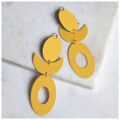 Coated Statement Earrings