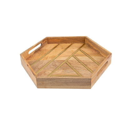 Wood & Brass Tray