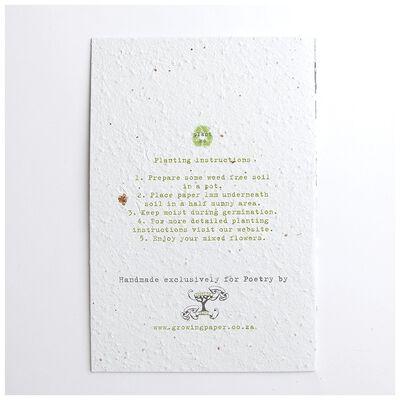 Growing Paper Poppy Card