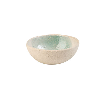 Light Blue Textured Snack Bowl