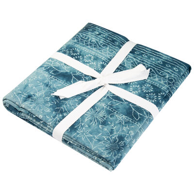 Blues Tie-Dye Floral Tablecloth
