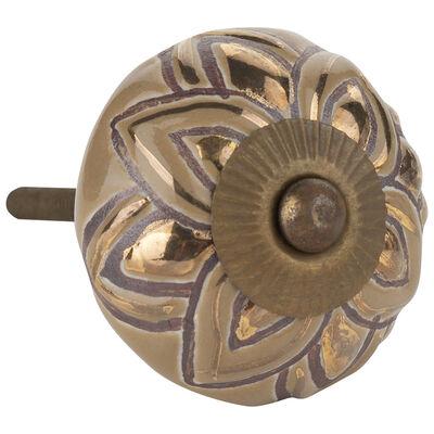 Gold Flower Knob