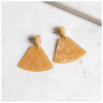 Resin Fan Drop Earrings