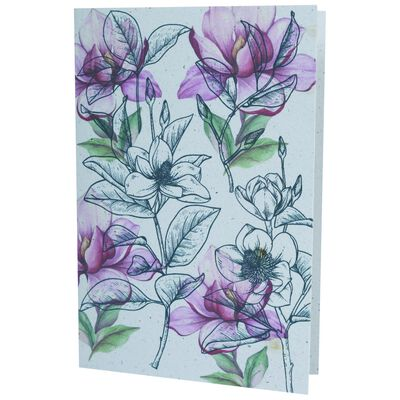 Growing Paper Soft Floral Card